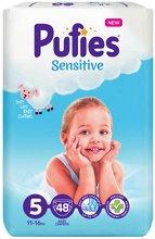 Pufies Sensitive 5 - Junior - Пелени за еднократна употреба за бебета с тегло от 11 до 16 kg -