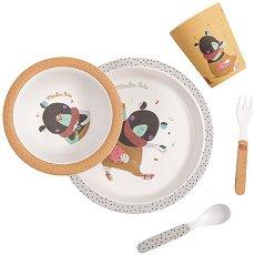 """Детски комплект за хранене - Мече - За бебета над 12 месеца от серията """"Jolis pas Beaux"""" -"""