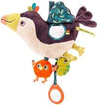 """Туканът Пако - Мека играчка за бебешко креватче или количка : от серията """"Dans la jungle"""" -"""