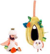 """Птички с гнездо - Комплект музикални играчки за бебешко креватче или количка : от серията """"Dans la jungle"""" -"""