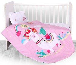 Бебешки спален комплект от 4 части - Happy Lama -