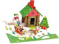 Къщата на дядо Коледа - Дървен конструктор -