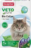 Beaphar Veto Pure Bio Collar for Cats - Противопаразитна каишка за котки с натурални съставки и регулируема дължина - продукт