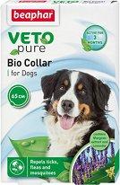 Beaphar Veto Pure Bio Collar for Dogs - Противопаразитна каишка за кучета с натурални съставки и регулируема дължина - лосион