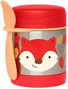 """Термоконтейнер за храна - Лисицата Фъргюсън 325 ml - За бебета над 12 месеца от серията """"Zoo"""" -"""