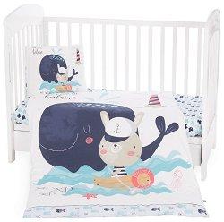 Бебешки спален комплект от 5 части - Happy Sailor -