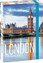 Кутия с ластик - Лондон - Формат A4