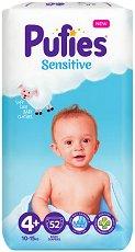 Pufies Sensitive 4+ - Maxi Plus - Пелени за еднократна употреба за бебета с тегло от 10 до 15 kg - продукт