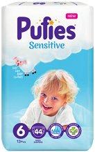 Pufies Sensitive 6 - Extra Large - Пелени за еднократна употреба за бебета с тегло над 13 kg -