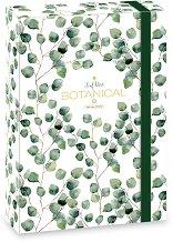 Кутия с ластик - Botanic Leaf - Формат A4