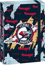 Кутия с ластик - Flying Sharks - Формат A4
