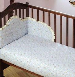 Бебешки спален комплект от 3 части - Owieczki - 100% памук за легла с размери 60 x 120 cm и 70 x 140 cm -