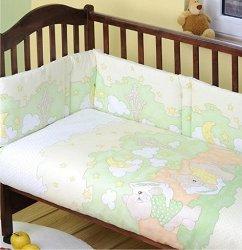 Бебешки спален комплект от 3 части - Dobranocka - 100% памук за легла с размери 60 x 120 cm и 70 x 140 cm -