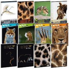 Ученическа тетрадка - Wild Life Moments Формат А4 с широки редове -