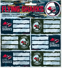 Етикети за тетрадки - Flying Sharks -