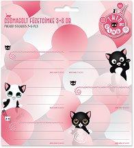 Етикети за тетрадки - Think Pink - Комплект от 18 броя -