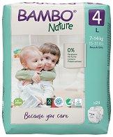 Bambo Nature 4 - L - Еко пелени за еднократна употреба за бебета с тегло от 7 до 14 kg -