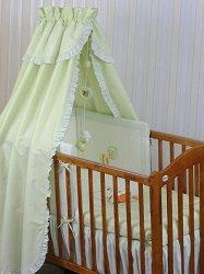 Бебешки спален комплект от 4 части - Baby Heart - 100% памук за легла с размери 60 x 120 cm и 70 x 140 cm -