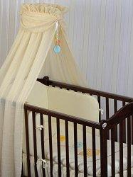 Бебешки спален комплект от 4 части - Baloniki - 100% памук за легла с размери 60 x 120 cm и 70 x 140 cm -