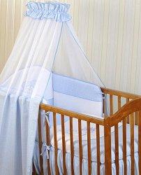 Бебешки спален комплект от 4 части - Mes Amis - 100% памук за легла с размери 60 x 120 cm и 70 x 140 cm -