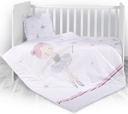 Бебешки спален комплект от 3 части - Ballet Pink -