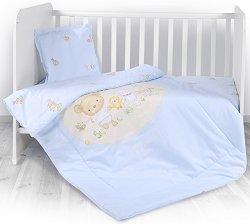 Бебешки спален комплект от 3 части - Bear Party - 100% памук за матраци с размери 60 x 120 cm и 70 x 140 cm - гърне