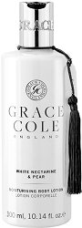"""Grace Cole White Nectarine & Pear Moisturising Body Lotion - Хидратиращ лосион за тяло от серията """"White Nectarine & Pear"""" - гел"""