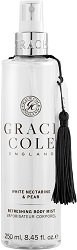 "Grace Cole White Nectarine & Pear Refreshing Body Mist - Освежаващ спрей за тяло от серията ""White Nectarine & Pear"" -"