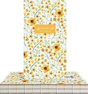 """Скицник за рисуване - Жълти цветя - С размери 9.4 x 17.2 cm от серията """"Spring"""""""