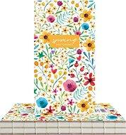 """Скицник с твърди корици - Цветна градина - С размери 9.4 x 17.2 cm от серията """"Spring"""""""