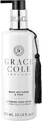 "Grace Cole White Nectarine & Pear Softening Hand Lotion - Омекотяващ лосион за ръце от серията ""White Nectarine & Pear"" - крем"