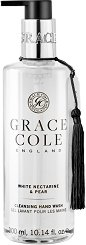 "Grace Cole White Nectarine & Pear Cleansing Hand Wash - Течен сапун за ръце от серията ""White Nectarine & Pear"" - сапун"