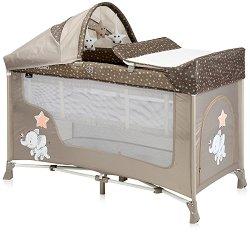 Сгъваемо бебешко легло на две нива - San Remo 2 Layers Plus 2020 - Комплект с аксесоари -
