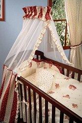 Спален комплект за бебешка люлка от 6 части - Music - 100% памук за матрак с размери 42 x 90 cm -