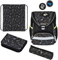Ученическа раница - Ultralight Plus: Space - Комплект с 2 несесера и спортна торба - раница