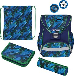 Ученическа раница - Ultralight Plus: Splash - Комплект с 2 несесера и спортна торба - раница