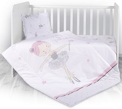 Бебешки спален комплект от 4 части с олекотена завивка - Ballet -