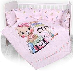 Бебешки спален комплект от 5 части с обиколник - Cute Travel -