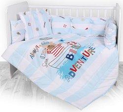 Бебешки спален комплект от 5 части с обиколник - Big Adventure -