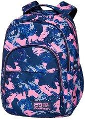 Ученическа раница - Basic Plus: Pink Strokes - раница