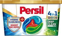 Капсули за цветно пране против неприятни миризми - Persil Color Discs - Разфасовки от 11 и 22 броя -