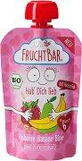 Fruchtbar - Био пюре с малини, банани и круши -