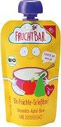 Fruchtbar - Био каша с грис, круши, ябълки и кокосово мляко - Опаковка от 120 g за бебета над 6 месеца -