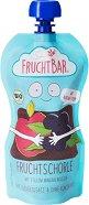 FruchtBar - Био плодова вода с ябълки и боровинки - Опаковка от 250 ml за бебета над 12 месеца -