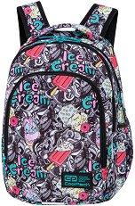 Ученическа раница - Prime: Ice Cream - В комплект с термонесесер - раница