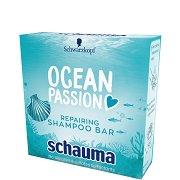 Schauma Ocean Passion Repairing Shampoo Bar - Възстановяващ твърд шампоан - четка