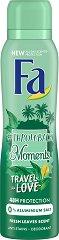 Fa Throwback Moments Travel Love Deodorant - Дамски дезодорант с аромат на свежи листа -