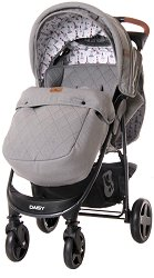 Лятна бебешка количка - Daisy Water Print - С 4 колела -