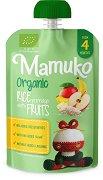 Mamuko - Био млечна оризова каша с манго, банани и ябълки - Опаковка от 100 g за бебета над 4 месеца -