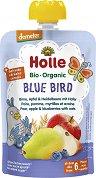 Holle - Био забавна плодова закуска с круши, ябълки и боровинки с овес - Опаковка от 100 g за бебета над 6 месеца -